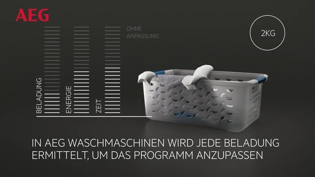 AEG - ProSense Technologie - Spart Wasser, Energie & Zeit Video 3