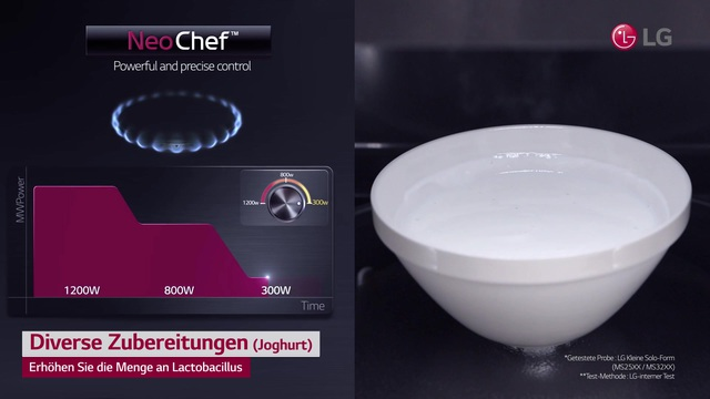 LG - Neo Chef - Diverse Zubereitungen (Joghurt) Video 3