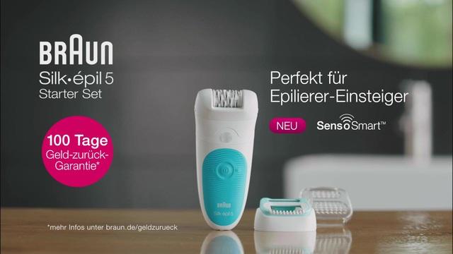 Braun - Silke épil 5 Starter Set mit SensoSmart Video 3