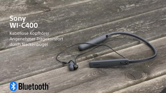 Sony - WI-C400 kabellose Kopfhörer mit Nackenbügel Video 3
