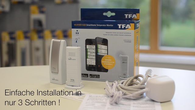 TFA - Weatherhub SmartHome Temperatur Monitor Video 3