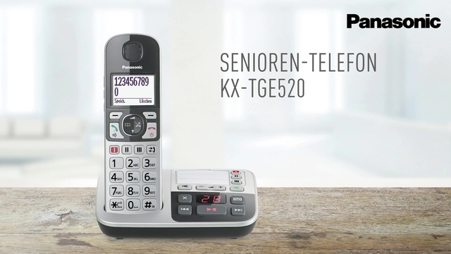 Panasonic - Senioren-Telefon KX-TGE520 Video 3