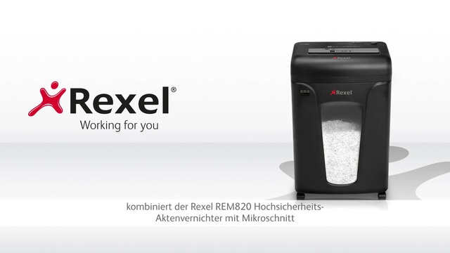 Rexel - REM820 Aktenvernichter mit Mikropartikelschnitt Video 3