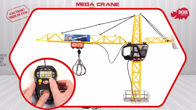 Mega Crane - Construction - Ferngesteuerter Kran - Baukran - Dickie Toys Video 3