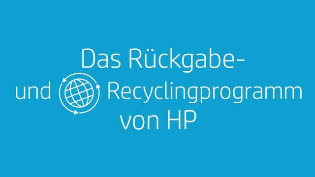 HP - Rückgabe- und Recyclingprogramm Video 5