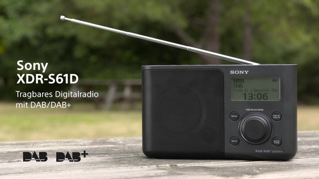 Sony - XDR-S61D Tragbares Digitalradio mit DAB/DAB+ Video 3