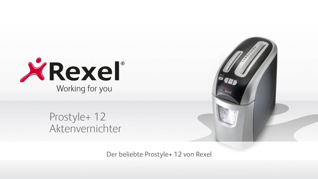 Rexel - Prostyle+ 12 Aktenvernichter Video 3