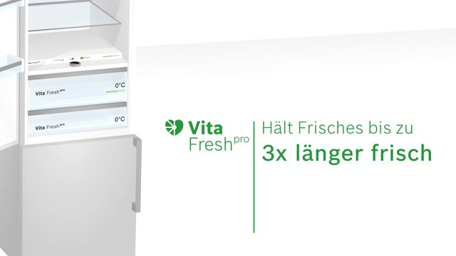 Bosch - VitaFresh pro - Das innovative Frischesystem Video 4