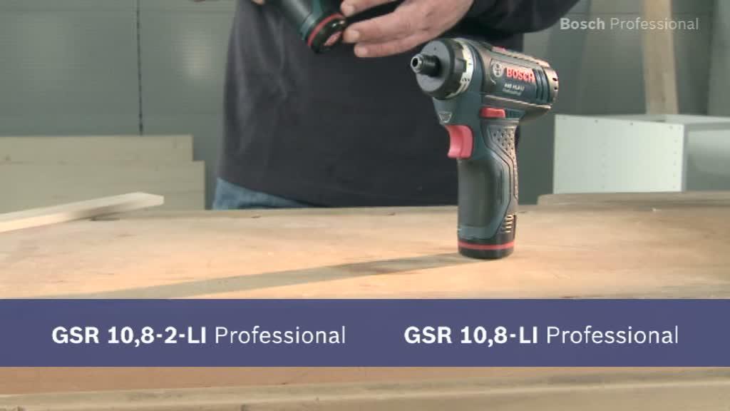 GAL1230CV Bohrschrauber GSR 12V-15 Bosch Akku Winkelbohrmaschine 2x 4.0Ah
