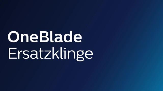 Philips OneBlade Ersatzklingen Video 3
